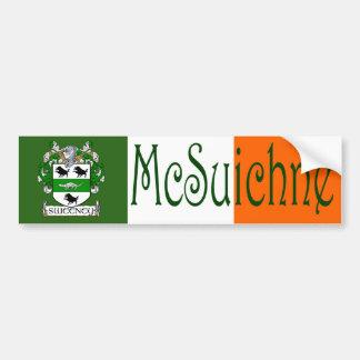 Sweeney Clan Irish/English Flag Bumper Sticker