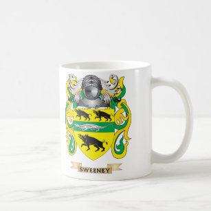 Surname history drinkware zazzle sweeney coat of arms family crest coffee mug thecheapjerseys Gallery