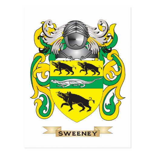 Sweeney Coat of Arms (Family Crest) Postcard