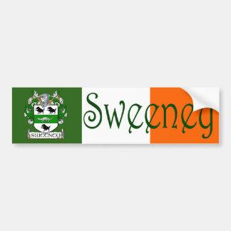 Sweeney Coat of Arms Flag Bumper Sticker