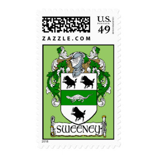 Sweeney Coat of Arms Postage Stamps