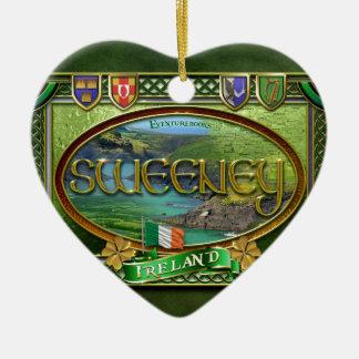Sweeney Family Banner Ceramic Ornament