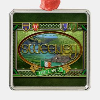 Sweeney Family Banner Metal Ornament