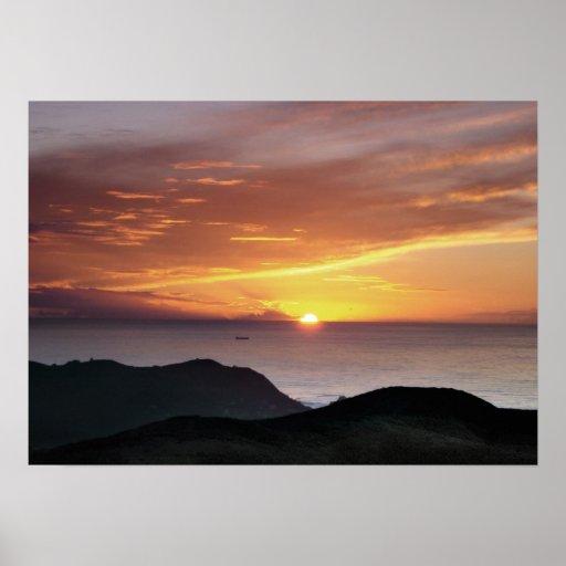 Sweeney Ridge Sunset Poster