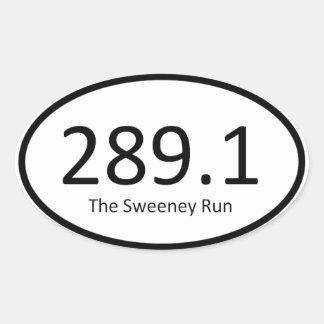 Sweeney Run - 289.1 Oval Sticker