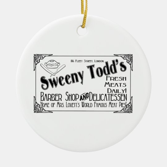 Sweeny Todd Ornament