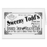 Sweeny Todd's Barber Shop & Delicatessen Cards