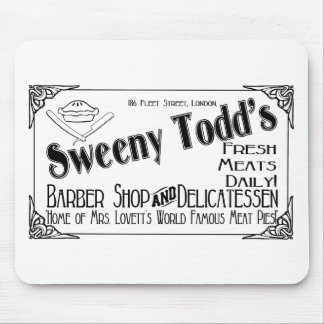 Sweeny Todd's Barber Shop & Delicatessen Mouse Pad