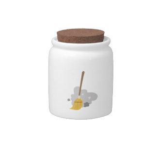 Sweep Broom Candy Jar