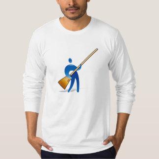 Sweep brush man t shirt