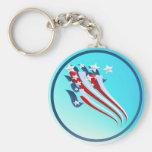 Sweeping American Flag Keychain