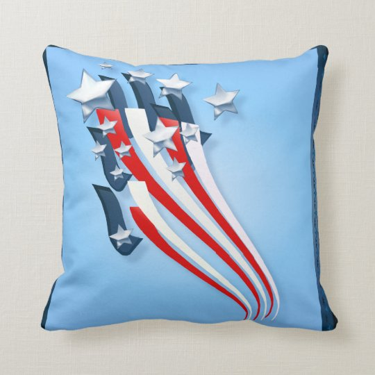 Sweeping American Flag pillow