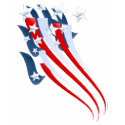 Sweeping American Flag T-Shirt shirt