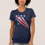 Sweeping American Flag T-Shirt