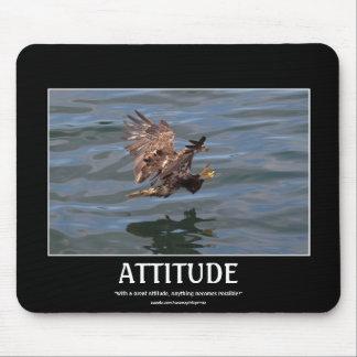 Sweeping Juvenile Bald Eagle Motivational Mousepad