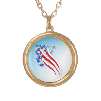 Sweeping Old Glory  necklace