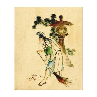 Sweeping Pine Needles 1840 Canvas Print