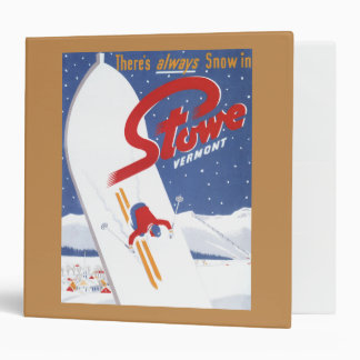 Sweeping S - There's Always Snow Promo Poster 3 Ring Binder