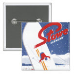 Sweeping S - There's Always Snow Promo Poster Pinback Button