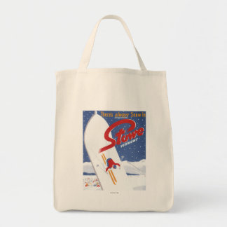 Sweeping S - There's Always Snow Promo Poster Tote Bag