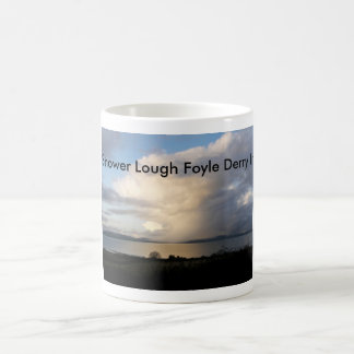 Sweeping shower over lough Foyle, Derry, Irelan... Coffee Mug