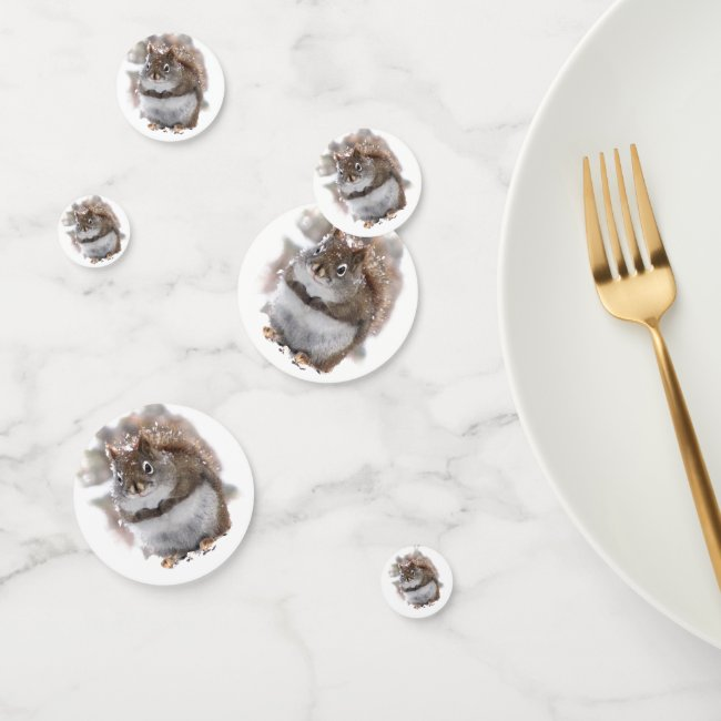 Sweer Squirrels Table Confetti