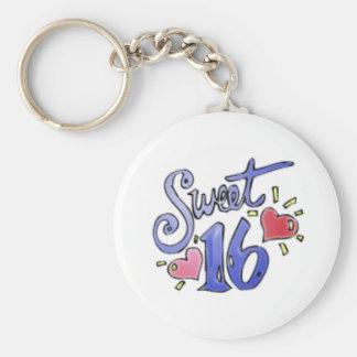 sweet16 basic round button keychain