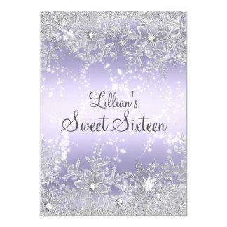 Sweet16 Diamond Snowflake Purple Winter Wonderland Card