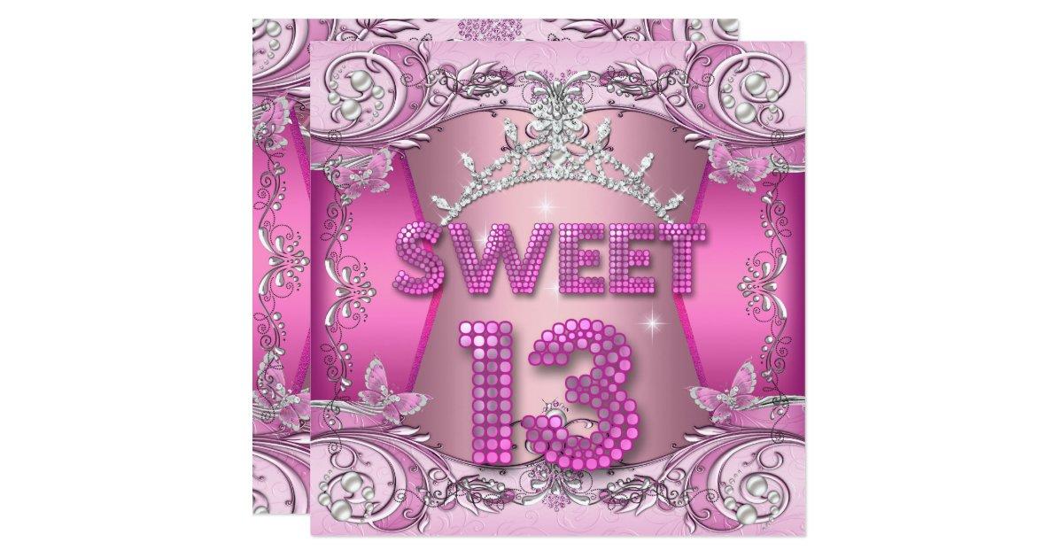 13th Birthday Invitations Announcements – 13 Birthday Party Invitations