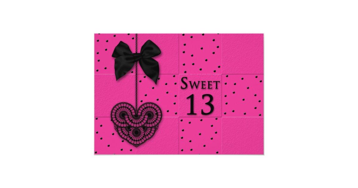 Sweet 13 Birthday Party Invitations | Zazzle.com