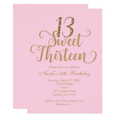 13th Sweet 13 Birthday Party Tickets Lime Card Zazzlecom