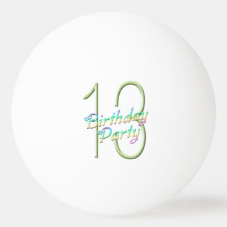 Sweet 13 Rainbow and Butterflies Birthday Party Ping-Pong Ball