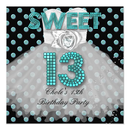 13th birthday invitations & announcements | zazzle, Birthday invitations
