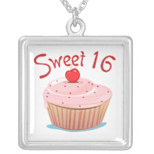 Sweet 16 16th Birthday Cupcake Jewelry