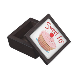 Sweet 16 16th Birthday Cupcake Jewelry Box