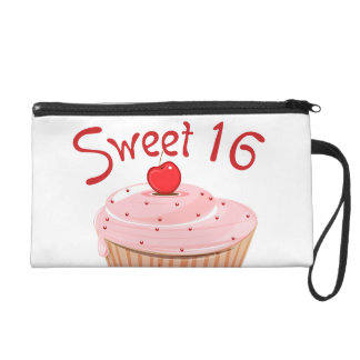 Sweet 16 16th Birthday Cupcake Wristlet
