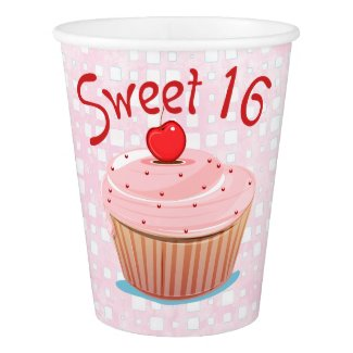 Sweet 16 16th Birthday Paper Cup