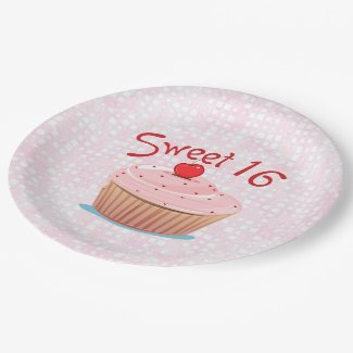 Sweet 16 16th Birthday Paper Plate