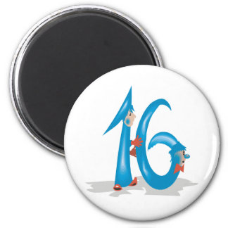 Sweet 16 2 inch round magnet