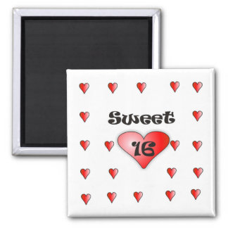 Sweet 16 2 inch square magnet