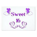"Sweet 16 5"" x 7"" invitation card"