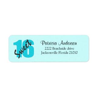 Sweet 16 Address Labels