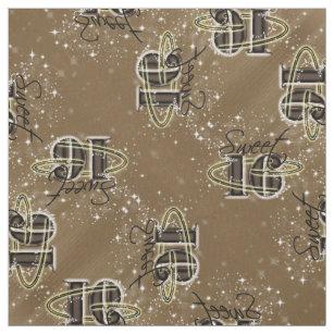 95b48364e2b Sweet 16 All Stars Gold Fabric