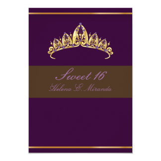 Sweet 16/ amethyst tiara card