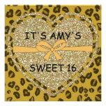 SWEET 16 ANIMAL PRINT Cheetah Invitations