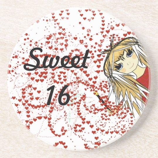 Sweet 16 Anime Girl Coasters