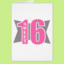 Sweet 16 (Art Deco) Card
