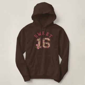 Sweet 16 Athletic Pink Floral Hoodie