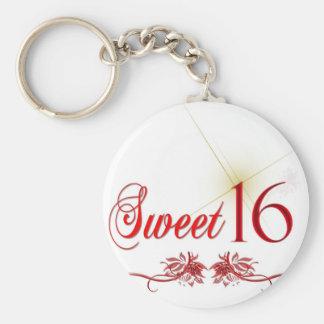 Sweet 16 Birthday Basic Round Button Keychain