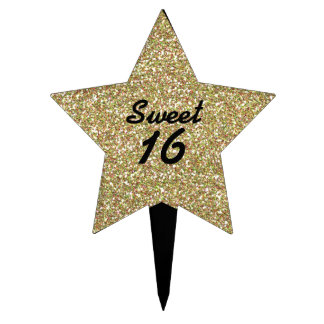 Sweet 16 Birthday Cake Topper